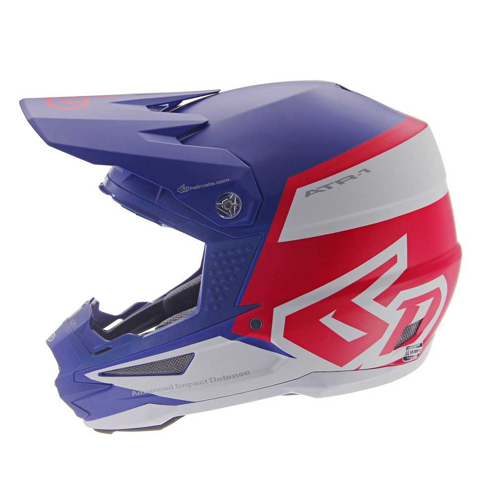 Casque cross 6D ATR-1 Flight Bleu-Rouge 2019