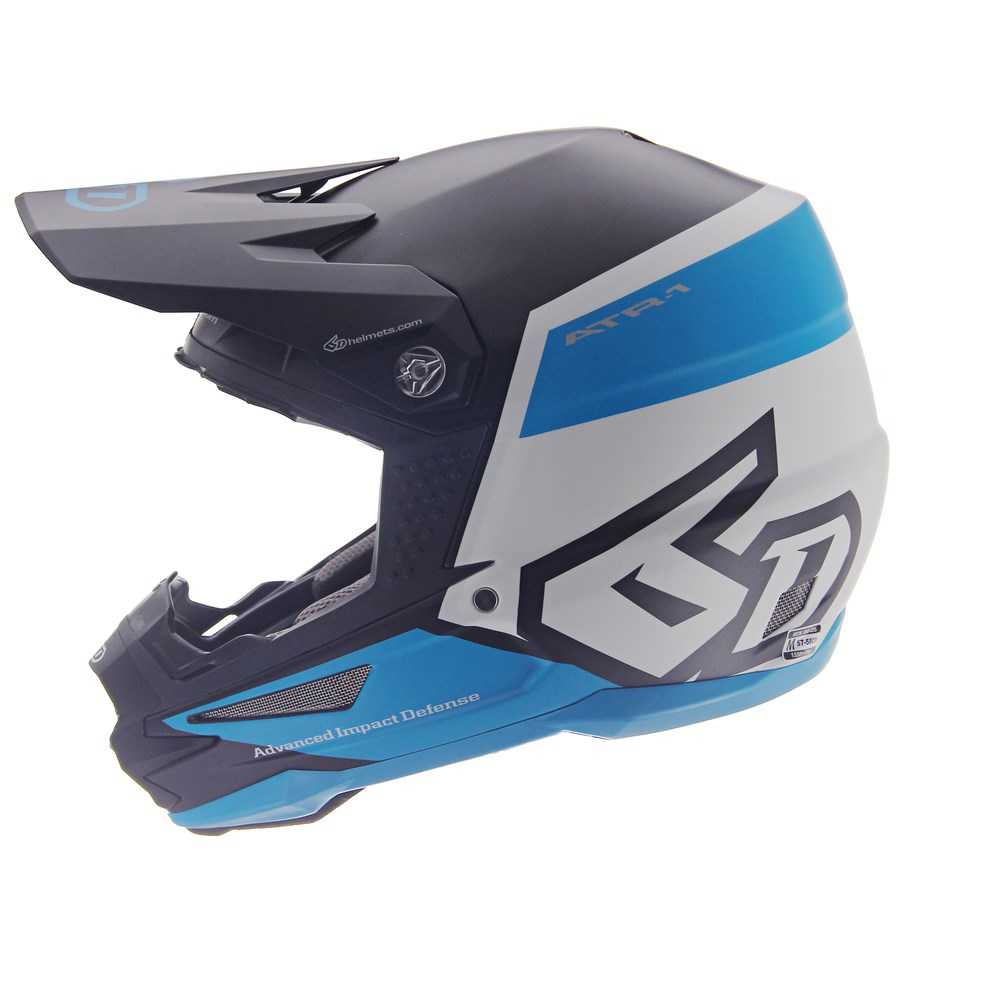 Casque cross 6D ATR-1 Flight Noir-Bleu 2019