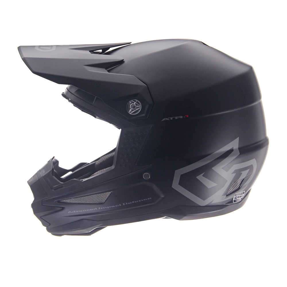Casque cross 6D ATR-1 Solid Noir 2019