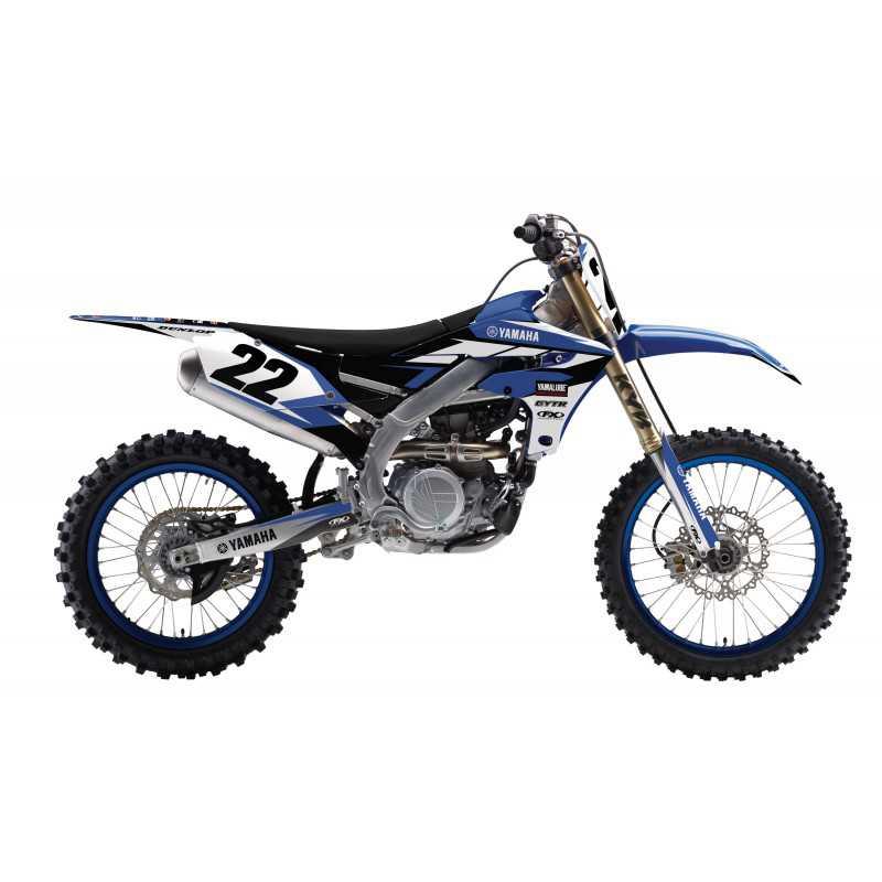 Kit d co seul evo11 yz 125 250 02 14 factory effex for Yamaha dirt bike plastics