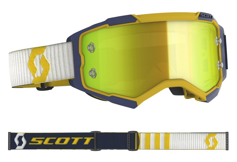 Masque cross Scott Fury Jaune-Bleu 2020