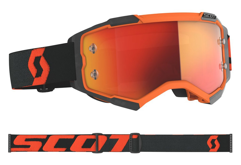 Masque cross Scott Fury Orange-Noir 2020
