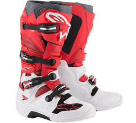 Bottes cross Alpinestars Tech 7 Blanc-Rouge 2020