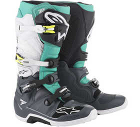 Bottes cross Alpinestars Tech 7 Gris-Teal 2021