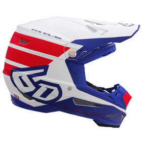 Casque cross 6D ATR-2 Stripe Rouge-Blanc 2019