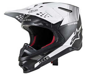Casque cross Alpinestars Supertech M10 Dyno Noir-Blanc 2021