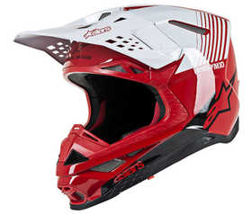 Casque cross Alpinestars Supertech M10 Dyno Rouge 2021