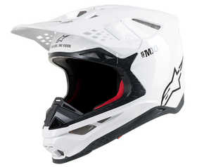 Casque cross Alpinestars Supertech M10 Solid Blanc 2021