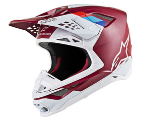 Casque cross Alpinestars Supertech M8 Contact Rouge 2020