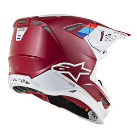 Casque cross Alpinestars Supertech M8 Contact Rouge 2020 Côté