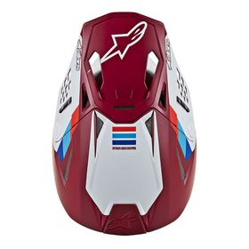 Casque cross Alpinestars Supertech M8 Contact Rouge 2020 Dessus