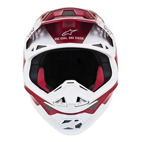 Casque cross Alpinestars Supertech M8 Contact Rouge 2020 Devant