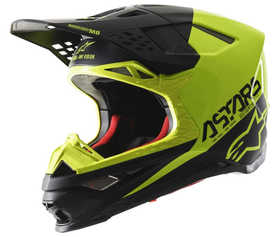 Casque cross Alpinestars Supertech M8 Echo Jaune Fluo 2021