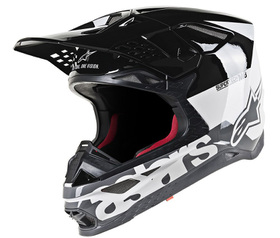 Casque cross Alpinestars Supertech M8 Radium Noir 2021