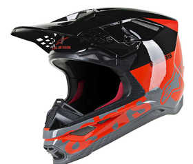 Casque cross Alpinestars Supertech M8 Radium Rouge Fluo 2021