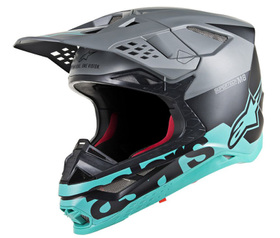 Casque cross Alpinestars Supertech M8 Radium Teal 2021