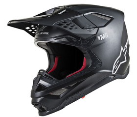 Casque cross Alpinestars Supertech M8 Solid Noir Mat 2021