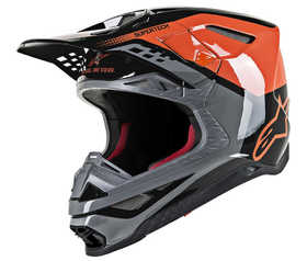 Casque cross Alpinestars Supertech M8 Triple Orange 2021