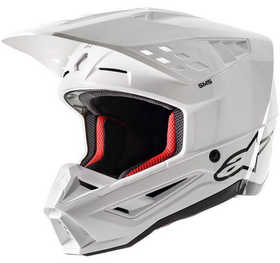 Casque cross Alpinestars Supertech S-M5 Solid Blanc 2021