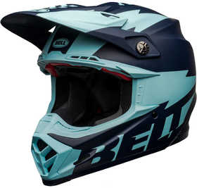 Casque cross Bell Moto-9 Flex Breakaway Navy 2021