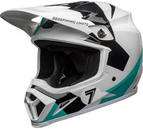Casque cross Bell MX-9 Mips Seven Battleship Aqua 2021
