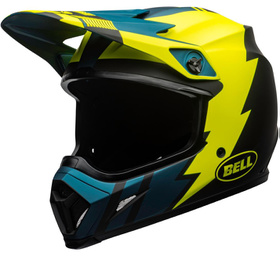 Casque cross Bell MX-9 Mips Strike Bleu-Jaune 2020