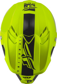 Casque cross Fly F2 Carbon Mips Shield Jaune 2020 Dessus