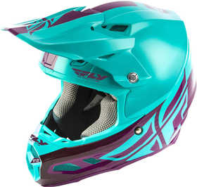 Casque cross Fly F2 Carbon Mips Shield Turquoise 2020