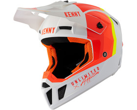 Casque cross Kenny Performance White Red Orange 2021