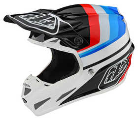 Casque-cross-SE4-Composite-Troy-Lee-Designs-Mirage-Blanc---Noir---Profil