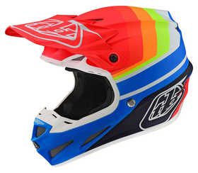 Casque-cross-SE4-Composite-Troy-Lee-Designs-Mirage-Bleu---Rouge---Profil