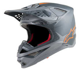 Casque cross Supertech M10 Meta Gris-Orange Fluo 2020