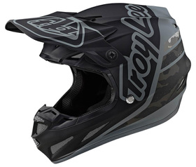 Casque cross Troy Lee Designs SE4 Composite Silhouette Noir-Camo 2020