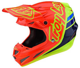 Casque cross Troy Lee Designs SE4 Composite Silhouette Orange-Jaune 2020