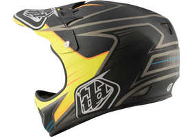 Casque vélo Troy Lee Designs D2 Pulse Jaune 2017 Côté