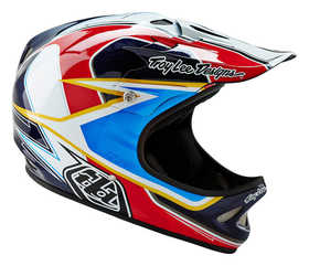 Casque-Troy-Lee-Designs-D2_SONAR_Rouge---Profil-droit