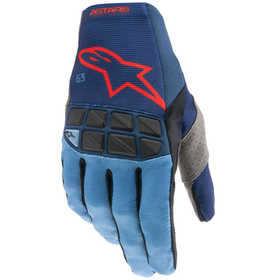 Gants cross Alpinestars Racefend Bleu-Rouge 2021