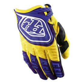 Gants cross Enfant Troy Lee Designs GP Jaune / Violet