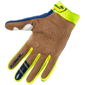 Gants cross Kenny Titanium Navy Neon Yellow 2021 Paume