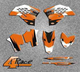 Kit deco Ktm 4Race sans Sponsors