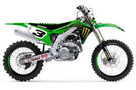 Kit deco motocross Kawasaki Monster Energy Team - 2020 - Personnalisé -D'Cor Visual