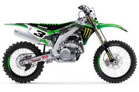 Kit déco officiel D'Cor Visual San Diego Camo 2020 - Monster Energy Kawasaki