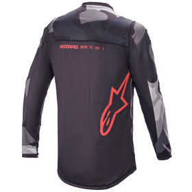 Maillot cross Alpinestars Racer Tactical Rouge Fluo 2021 Dos