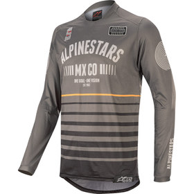 Maillot cross Alpinestars Racer Tech Flagship Gris 2020