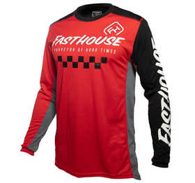 Maillot cross Fasthouse Rally Rouge-Noir