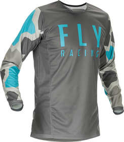Maillot cross Fly Kinetic K221 Gris 2021