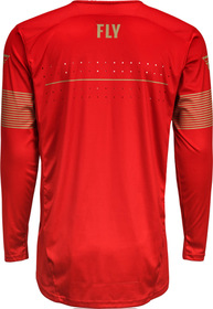 Maillot cross Fly Lite Hydrogen Rouge 2021 Dos