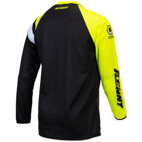 Maillot cross Kenny Track Focus Neon Yellow 2021 Dos