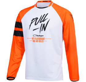 Maillot cross Pull-In Challenger Original Solid Orange White 2021