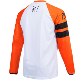 Maillot cross Pull-In Challenger Original Solid Orange White 2021 Dos